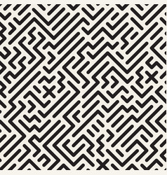 geometric monochrome striped seamless pattern vector image