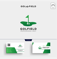 golf location or map logo template and business vector image