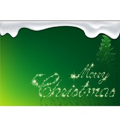 Green Merry Christmas vector image