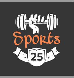 gym fitness center logo sign in vintage vector image