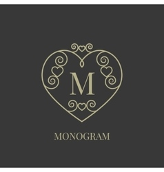 Heart monogram vector image
