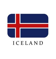 icelandic flag vector image