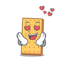 In love graham cookies mascot cartoon vector