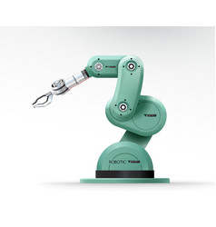 Industrial machine robotic hand arm machinery vector