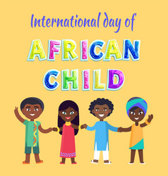 International day of african child poster vector
