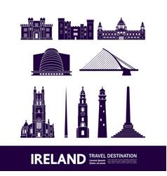 Ireland travel destination vector