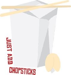 Just Add Chopsticks vector