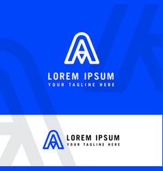 letter a logo design graphic template minimalist vector image