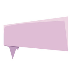 Lilac origami speech bubble icon cartoon style vector