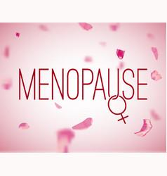 Menopause image vector