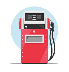 Modern red fuel dispenser over white background vector