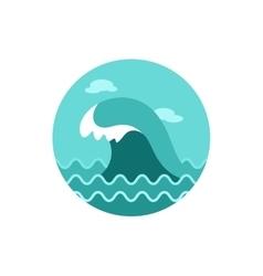 Ocean wave icon Summer Vacation vector