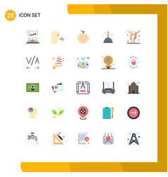 Pack 25 modern flat colors signs and symbols vector
