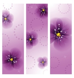 Pansy flowers on the greeting card vector