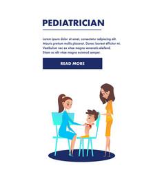 pediatrician doctor consultation banner vector image