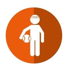 player basketball with headband shadow vector image