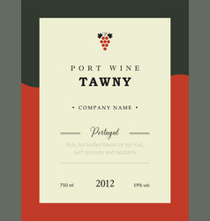 Port wine label premium template set vector