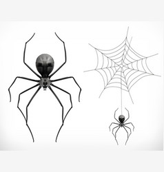 realistic spider halloween 3d icon vector image