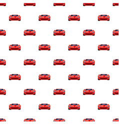 red sport car pattern seamless vector image