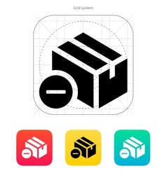 Remove box icon vector