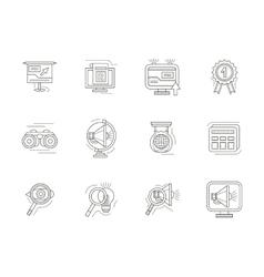SEO thin line icons set vector image