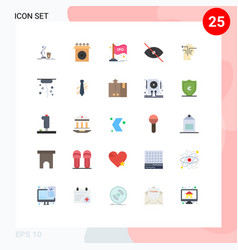 Set 25 modern ui icons symbols signs for vector