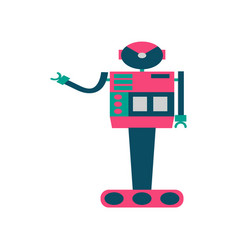 set of robots in cartoon style isolated vector image