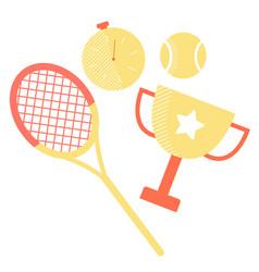 Set sports equipment vector