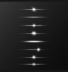 shine beams glowing line set on transparent vector image