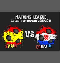 soccer game spain vs croatia vector image