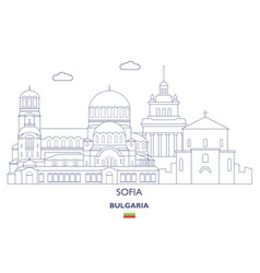sofia city skyline vector image
