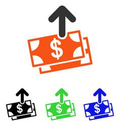 Spend money flat icon vector