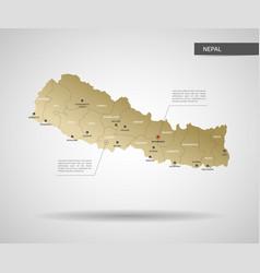 stylized nepal map vector image