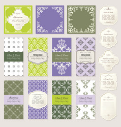 templates cards and frames set vector image