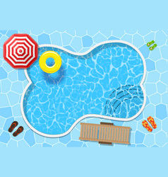 Top view swimming pool vector