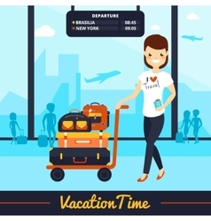 Travel Luggage vector image