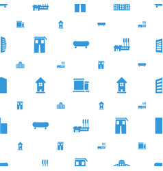 Urban icons pattern seamless white background vector