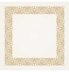Vintage baroque floral frame gold vector image