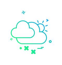 weather icon design vector image