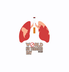 World no tobacco day template design vector