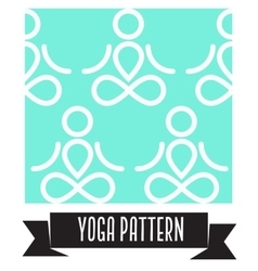 Yoga pattern vector