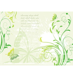 background with floral elements vector image