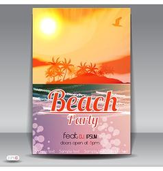Beach party vector image vector image