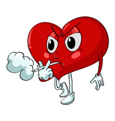 Cartoon Smoking Heart vector image