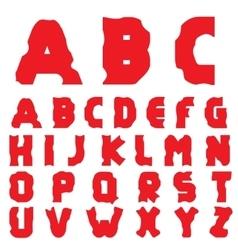 Cracked creative alphabet vector image vector image