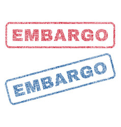 Embargo textile stamps vector