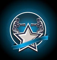 mixed martial arts icon or emblem vector image