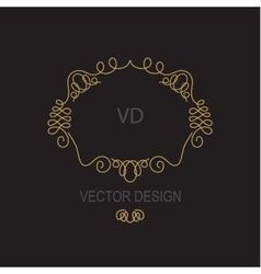 Premium Art Nouveau frame copy space for text in vector image vector image