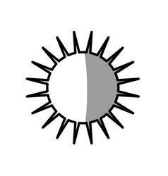 Sun day picnic shadow vector
