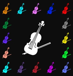Violin icon sign Lots of colorful symbols for your vector image